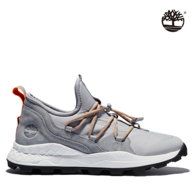 Timberland 男款冰雪色織布布蘭克林鞋|A2D85