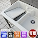 Abis 日式穩固耐用ABS塑鋼雙槽式洗衣槽(不鏽鋼腳架)-2入 product thumbnail 1