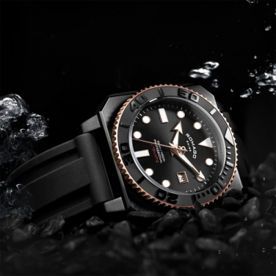 ROMAGO 專業深潛者 300系列-黑色/46mm
