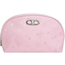 CELINE 經典品牌圖騰LOGO 貝殼型化妝包禮盒(粉紅)