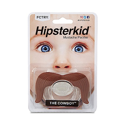 美國Hipsterkid 牛仔鬍子嬰兒奶嘴 不含雙酚A