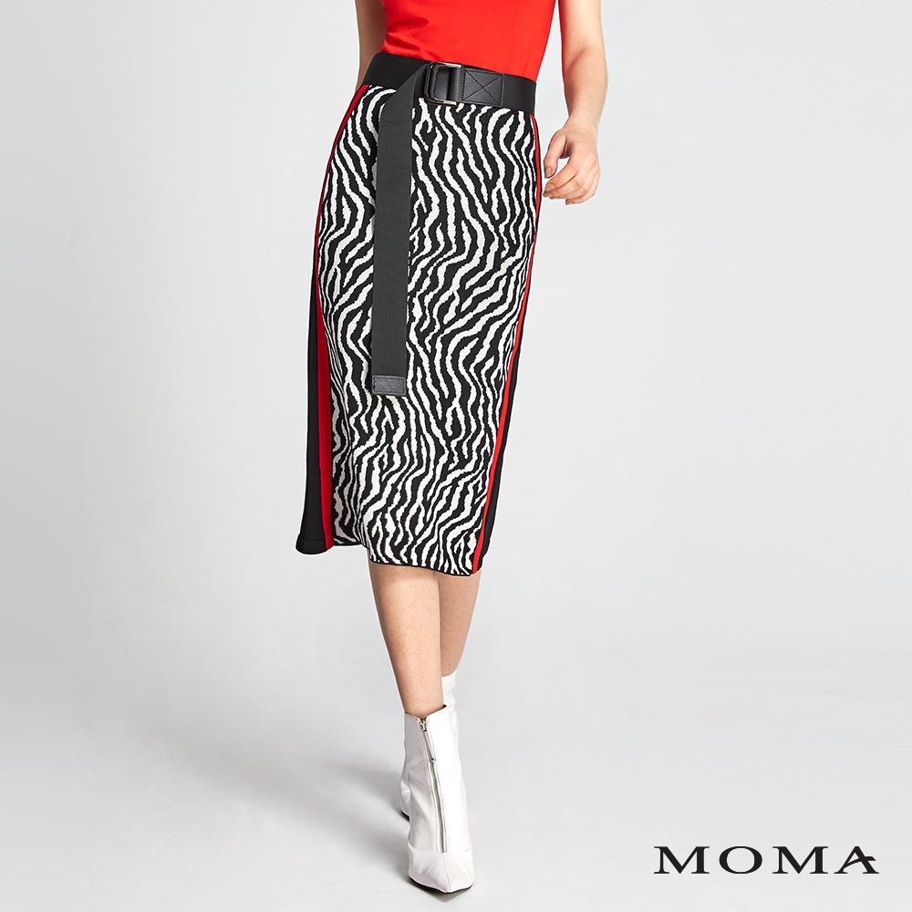 MOMA 斑馬紋針織直筒裙