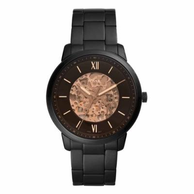 FOSSIL AUTOMATIC 雙鏤空機械腕錶-黑-ME3183-44mm
