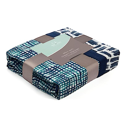 美國aden anais嬰幼兒絲柔(竹纖維)被毯-蒼藍系列AA9326