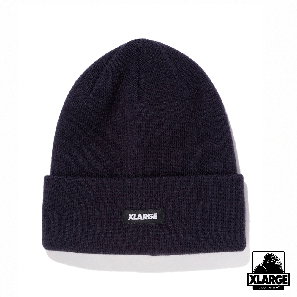 XLARGE PATCHED CUFF BEANIE毛帽-海軍藍