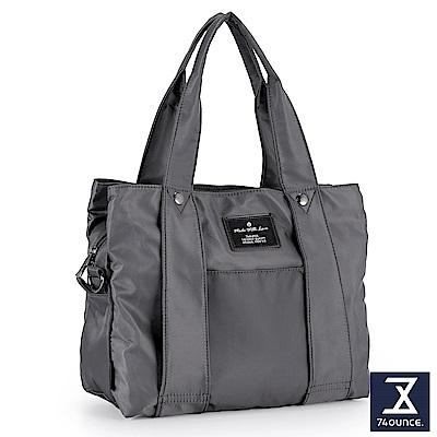 74盎司 Simple 多夾層設計手提側背包[LG-798]灰