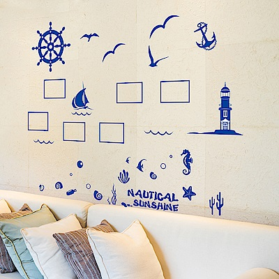 半島良品 DIY無痕壁貼-地中海照片牆 XL7131 50x70cm