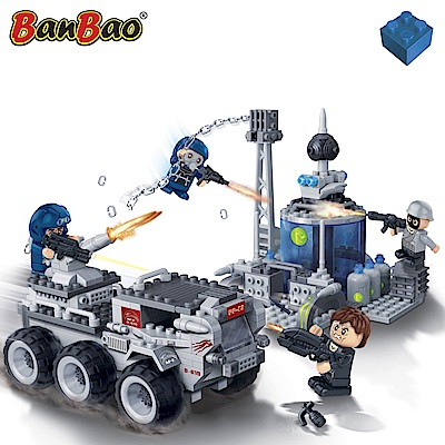 BanBao邦寶積木-超級警察系列 蟒蛇基地 328 片(與樂高Lego相容)