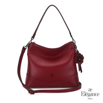【Elegance】SHOMON 2WAY新月包-酒紅色