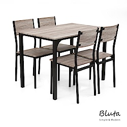 Bluta 四人餐桌椅組(一桌四椅) obis