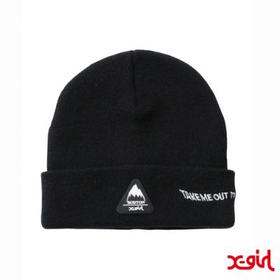 X-girl x BURTON KNIT CAP聯名毛帽-黑