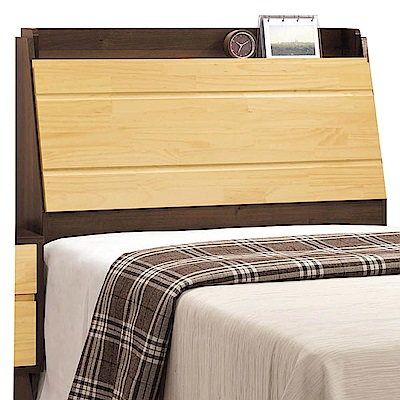 文創集 波麗時尚3.5尺木紋單人床頭箱-107.3x27x108cm免組