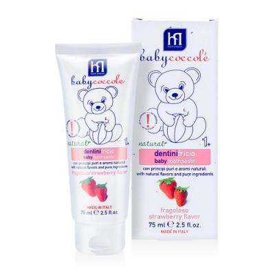 寶貝可可麗 babycoccole 寶貝水果膠牙膏-草莓口味 (1-3歲適用)