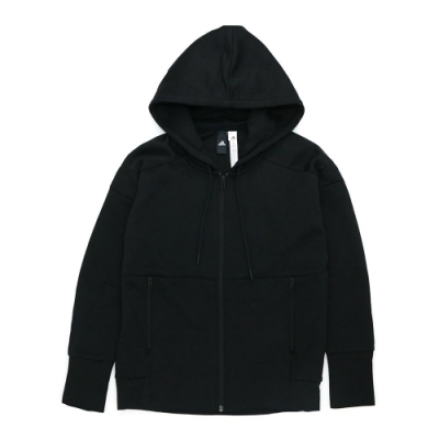 Adidas 女 連帽外套 黑