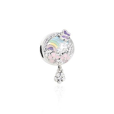 Pandora 潘朵拉 夢幻花園琺瑯 純銀墜飾 串珠