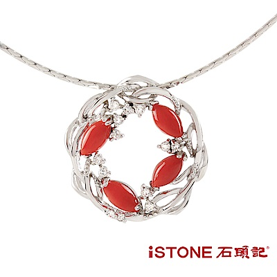 石頭記 紅珊瑚項鍊-瑚光珊色-星光燦爛
