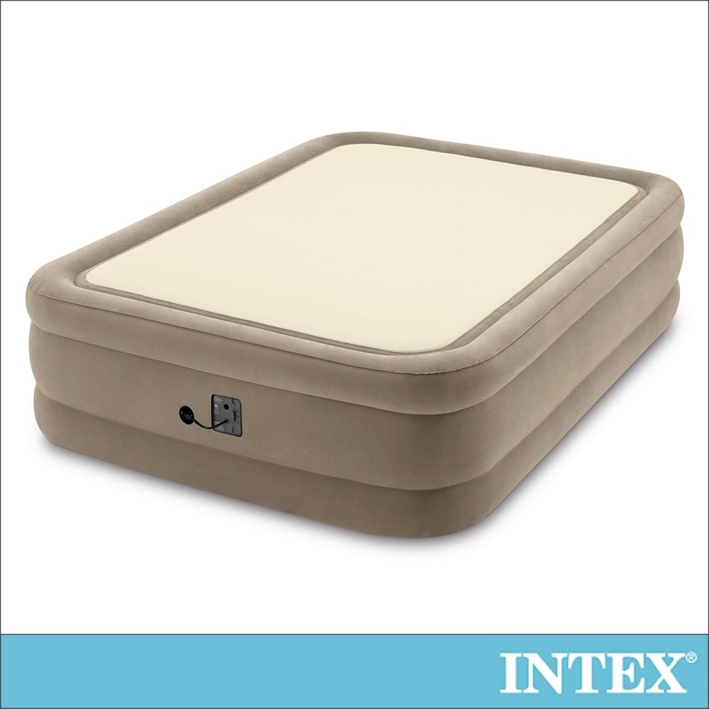 INTEX 全平面涼感雙氣室雙人加大充氣床墊152x203x高51cm(64477)