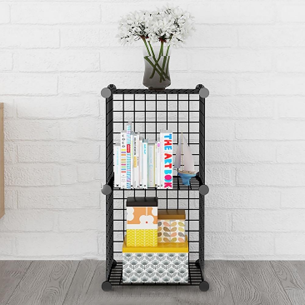 立體式鐵架組合置物櫃-2格款