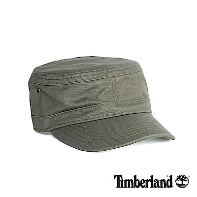 Timberland 男款軍綠色休閒帆布帽