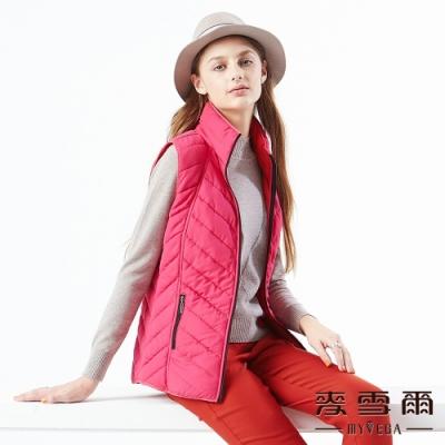 【麥雪爾】高領拉鍊口袋防風鋪棉背心-紅