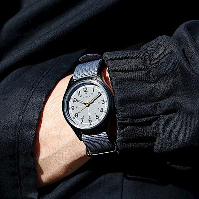 TIMEX xTODD SNYDER聯名限量MILITARY復古軍用腕錶組-灰/40mm