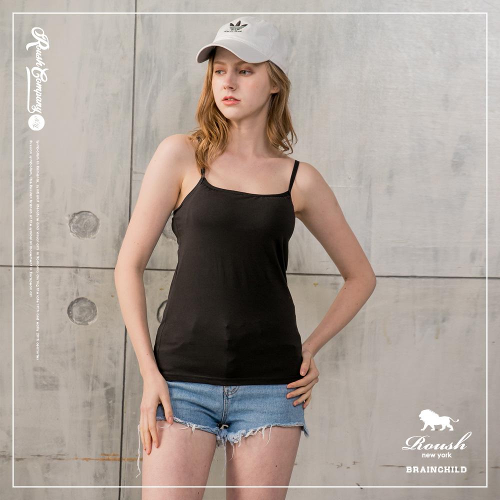Roush 女生可調式細肩帶BRATOP罩杯式彈力背心 (3色)