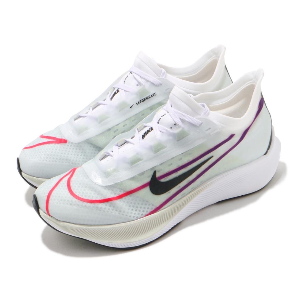 Nike 慢跑鞋 W Zoom Fly 3 女鞋 訓練 避震 白 黑彩色 漸層 氣墊 AT8241102