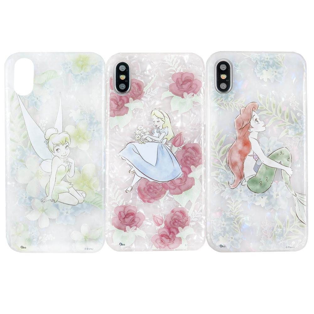Disney迪士尼iPhone X/Xs五彩貝殼系列手機殼_花朵