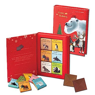 Diva Life 綜合聖誕版比利時黑巧克力書(12入/盒)x6盒