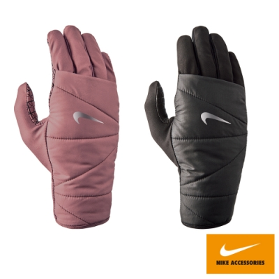 NIKE 女用防風跑步手套2.0 共兩色 黑 紫