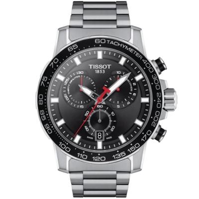 TISSOT天梭 SUPERSPORT CHRONO三眼計時手錶(T1256171105100)-45.5mm