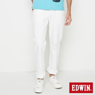 EDWIN 503 COOL RELAX 經典五袋式 中直筒牛仔褲-男-白色