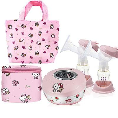 【Combi 康貝】 自然吸韻雙邊電動吸乳器_Hello Kitty版優惠組