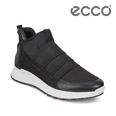 ECCO ST.1 W 輕盈套入式緩震運動休閒鞋 女-黑