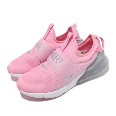 Nike 休閒鞋 Air Max 270 Extreme GS 女鞋 海外限定 襪套式 氣墊 避震 運動 粉 白 CI1108-600