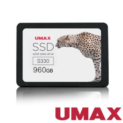 UMAX S330 960GB <b>2</b>.<b>5</b>吋 SATAⅢ 固態硬碟