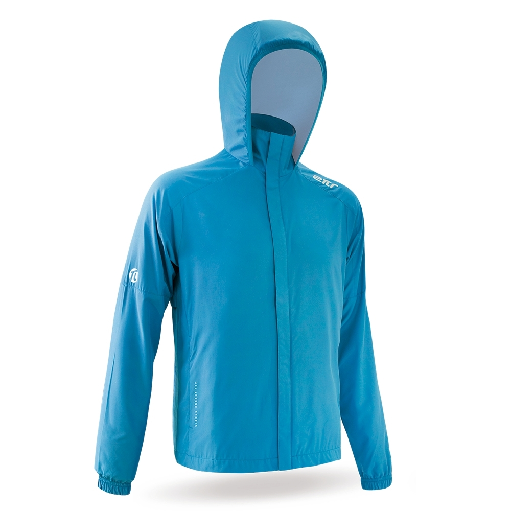 【2PIR】抗UV機能風衣外套 土耳其藍