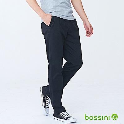 bossini男裝-輕便長褲18黑
