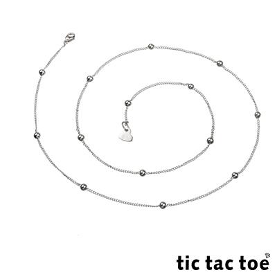 tic tac toe 白鋼造型單鍊-圓珠4mm