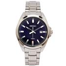 SEIKO 簡約時尚風格不鏽鋼錶帶手錶(SUR275P1)-藍面/42mm