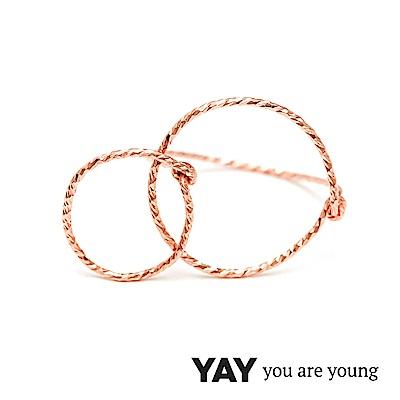 YAY You Are Young Fruits Dor 雅果無限戒指 玫瑰金髮絲紋