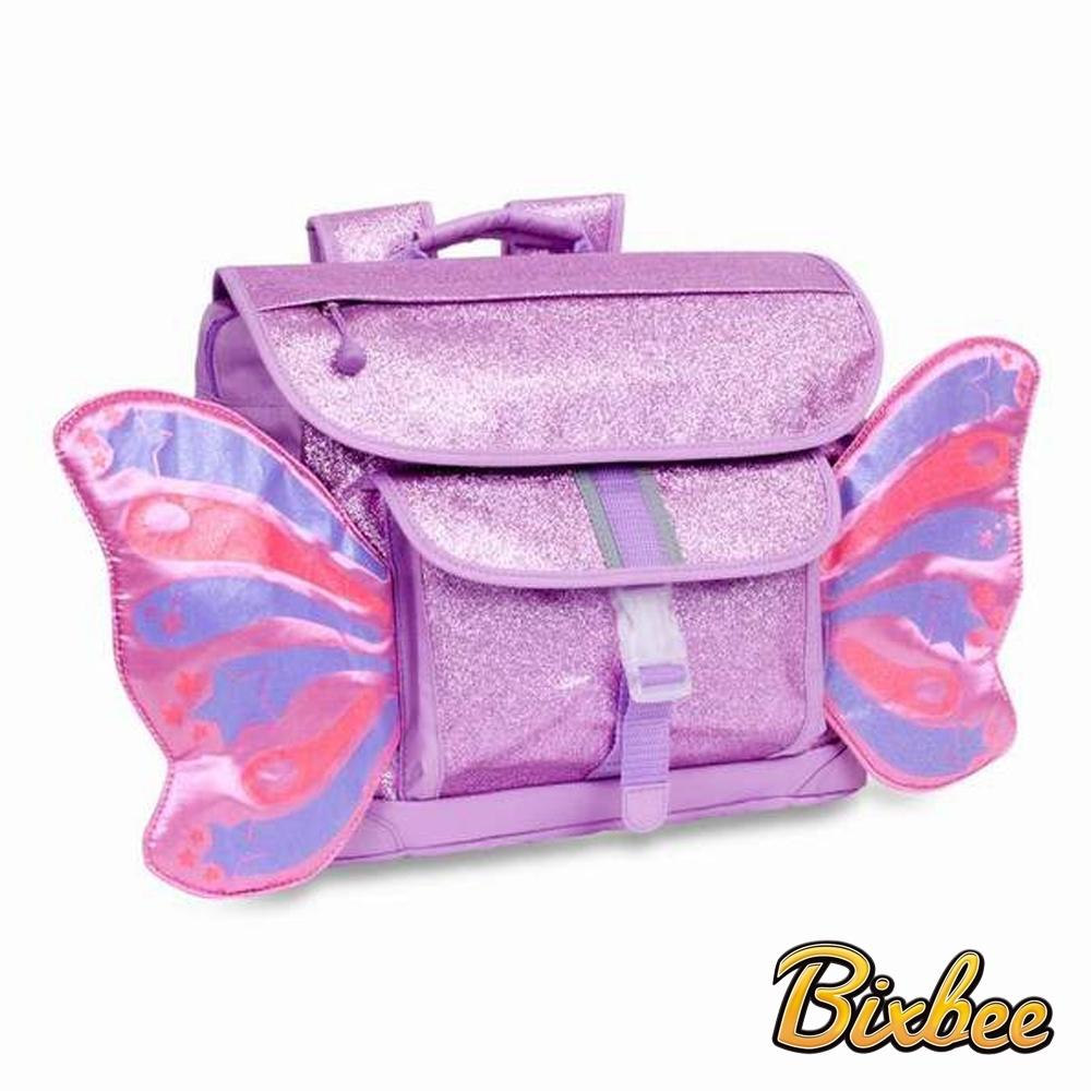美國Bixbee - 飛飛童趣系列粉紫閃閃蝴蝶中童背包