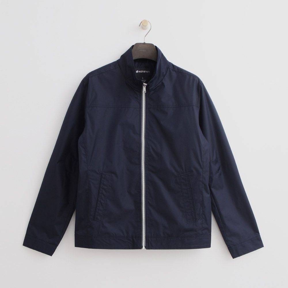 Hang Ten - 男裝 - 立領純色夾克--深藍色