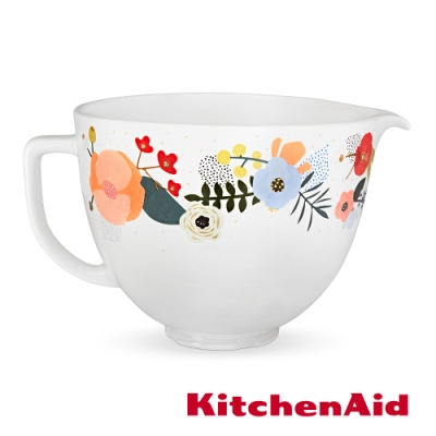 KitchenAid 5Q陶瓷攪拌盆: 北歐花園