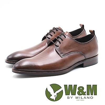W&M 限量復古質感刷色 男皮鞋-油蠟棕(另有油蠟藍)
