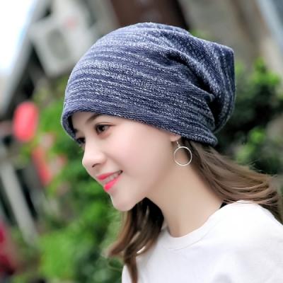 【89 zone】日系優雅透氣棉質保暖防風/頭巾帽 (藏青色)
