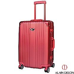 ALAIN DELON 亞蘭德倫 24吋流線雅仕系列行李箱  (紅)