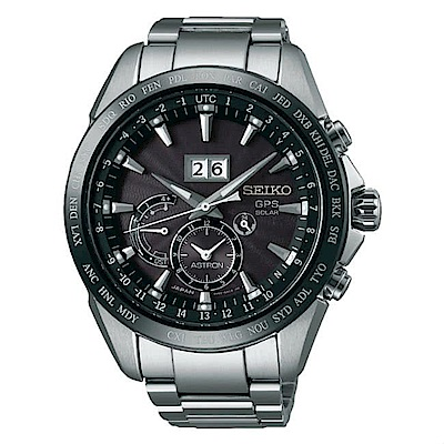 SEIKO精工AstronGPS對時大視窗日期時尚腕錶-黑SSE149J1