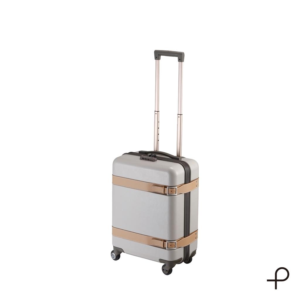 【日本製造PROTECA】雅緻-21吋經典復古行李箱(象牙白)