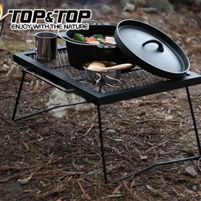 韓國TOP&TOP 折疊收納露營耐熱網桌 洞洞桌 折疊桌 烤肉桌